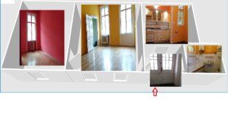 Körút közeli 3 szobássá alakítható déli fekvésű világos lakás eladó